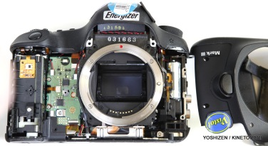 Internal shot of Canon 5D Mk3.