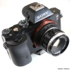 Olympus Pen-F lens for Sony A7 camera.